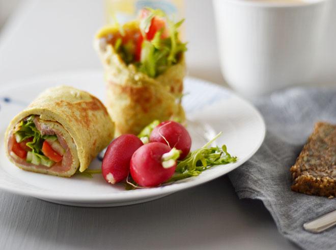 Omeletrulle med laks2